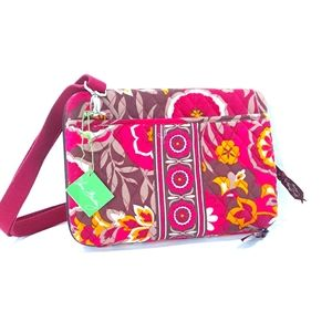 Vera Bradley NWT Mini Laptop Case Crossbody Bag